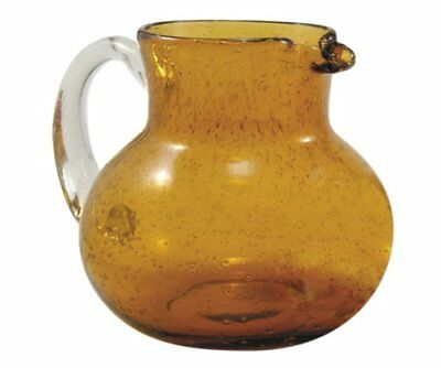 Artland Iris Double Old Fashioned Glasses, Amber, Set of 4, Pitcher