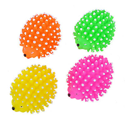 Durable Dog Chew Toy Squeaky Vinyl Hedgehog Interactive Bite Toys For Pet Puppy