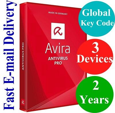 Avira Antivirus Pro 3 Devices / 2 Years (Unique Global Key Code) 2019