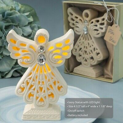 30 Glowing LED Angel Statue Christening Baptism Baby Shower Party Gift Favors