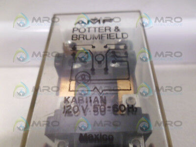 Potter & Brumfield Kap11An Relay 120V *used*