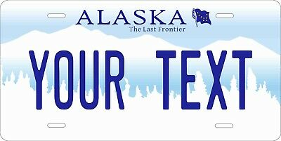 Alaska Mountain License Plate Personalized Custom Auto Bike Moped Motorcycle