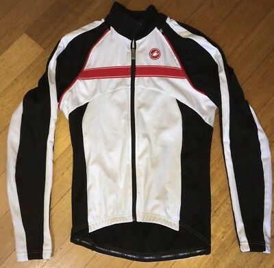 Castelli Pazzo Cycling Windproof/Thermal Convertible Long Sleeve Jacket White L