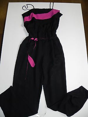 SALE - VINTAGE 80s Romper Ruffled Playsuit High Waisted Jumpsuit + Matching Belt