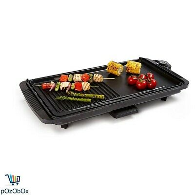 Electric BBQ Grill Griddle Non Stick 2000W Kitchen Hot Plate Barbecue Outdoor AU