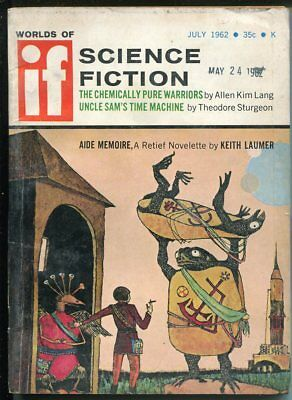 Worlds of If Science Fiction 7/1962-sci-fi pulp-Theodore Sturgeon-VG