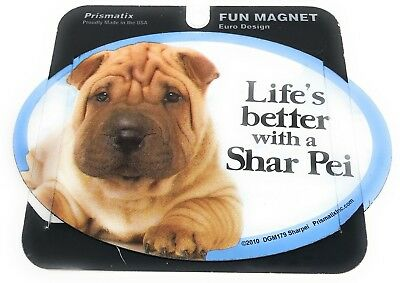 LIFE'S BETTER WITH A SHAR PEI MAGNET DOG Dog, Cars, Trucks. Lockers