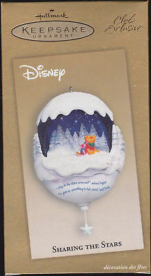 "HALLMARK Club Exclusive Disney ""Sharing the Stars"" Pooh & Piglet Lighted - MIB"