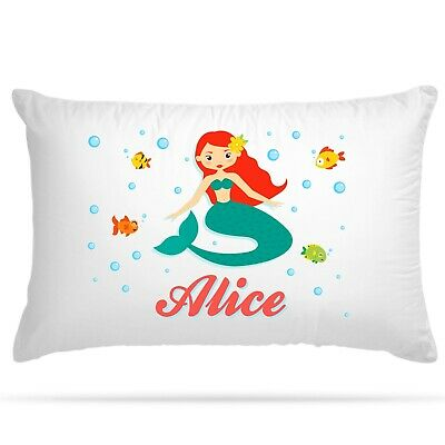 Personalised Pillow Case Mermaid Party Birthday Gift Girls Cushion Cover