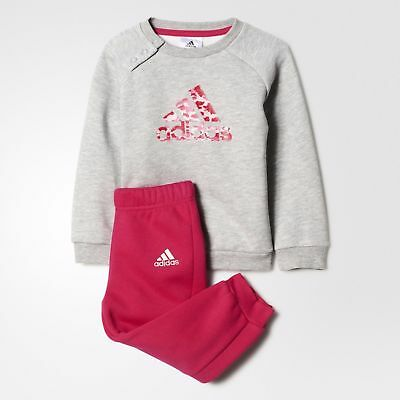 Adidas Infant Girls Tracksuit Sports Crew Jogger Set Children Baby Set BP5278