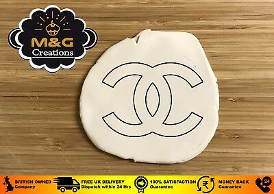 CHANEL Logo Cookie Fondant Cutter Birthday Cake Decorating 3 - 4 -5 INCHES UK