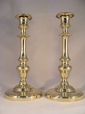 Unique Pair Antique Bronze / Brass Candlesticks French Directoire 18th.C. (6970)