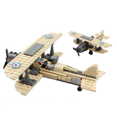 Lego Jet Airplane New Complete Set 126 Pcs Military series Camel F1 Fighter Toy
