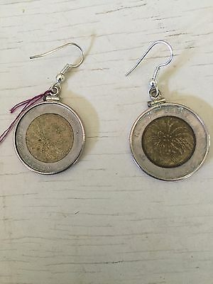 Vintage Indonesia Coin Earrings