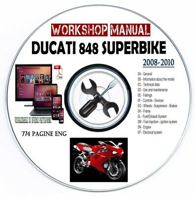 Manuale Officina Ducati 848 Superbike 2008-2010 Workshop Manual Service Repair