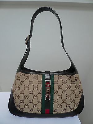 GUCCI JACKIE O GG VINTAGE LOGO HOBO BAG IN BROWN Size: SMALL