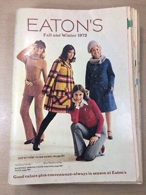Eaton's CATALOG - Fall Winter Moncton Canada 1972 Guitars Furniture Rifles VTG