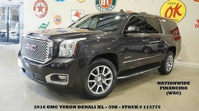 2016 GMC Yukon 16 YUKON DENALI XL RWD,ROOF,NAV,REAR DVD,HTD/COOL 16 YUKON DENALI XL RWD,ROOF,NAV,REAR DVD,HTD/COOL LTH,QUADS,20'S,39K,WE FINANCE!