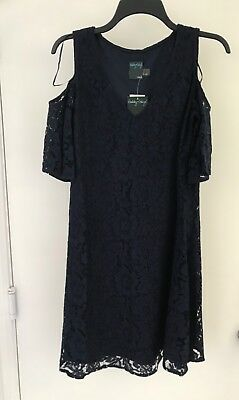 795bb1c7 Gabby Skye Cold shoulder Women's Size 8 Lace Placement Sheath Dress $98 NWT