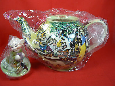 """Signed Paul Cardew 2003 8.5"""" Snow White Disney Character Teapot Collection IOB"""