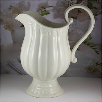 "Full Size 10"" 52 oz Ivory Pitcher Ewer by Skye McGhie STUNNING!"