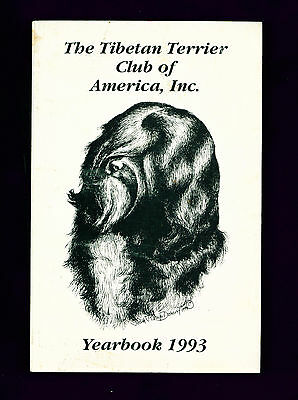 Dog Book The Tibetan Terrier Club America 1993 Yearbook Year Book