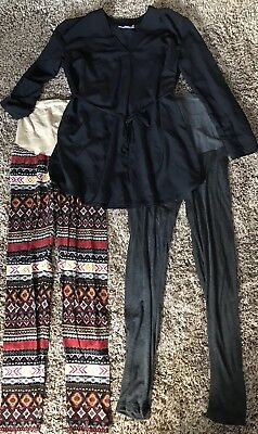 EUC Maternity 3 PIECE Outfit Small Medium Tunic Top Shirt Leggings