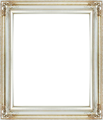 FRAME 24X20 - Vintage Style Old Silver Ornate Picture Oil Painting ...