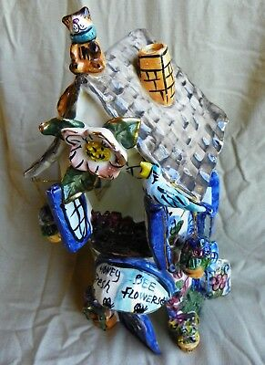 Flower Shop from Blue Sky Clayworks by Heather Goldminc Candle House Retired