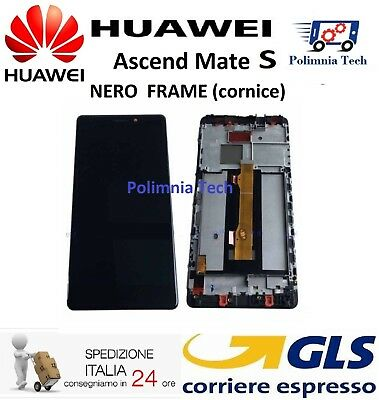DISPLAY HUAWEI MATE S NERO con FRAME (cornice) LCD TOUCH COMPLETO  - Sped 24/48h