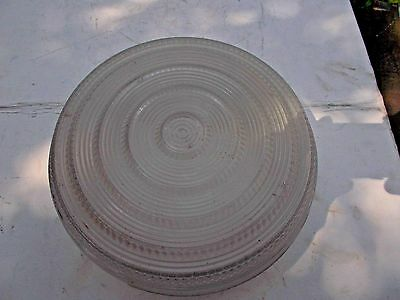 """Vintage- 8""""  Frosted/Clear Glass Ceiling Light Fixture Shade!"""