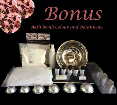 Massive Bath Bomb Making Kit - Makes 40+ Bath Bombs and Fizzies