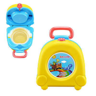 Baby Kids Training Potty Toddler Children Toilet Portable Training Seat Yellow