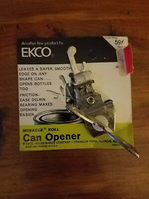 Vintage Ekco Miracle Roll Mini Can Bottle Opener Camping Survival Kit New