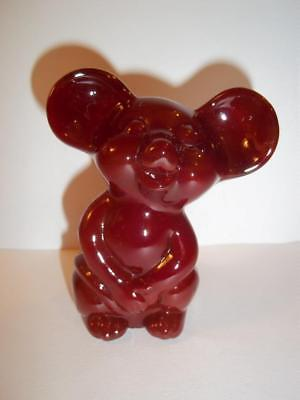 Fenton Art Glass MANDARIN RED MOUSE Figurine NFGS Convention Exclusive