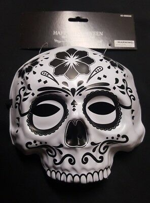 Sugar Skull Day of The Dead Black Mask or Decoration NEW