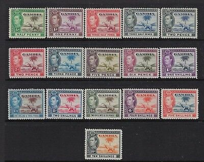 Gambia Scott #132-143 1938-46 George Vi Set Mint Nh/some Almost Nh
