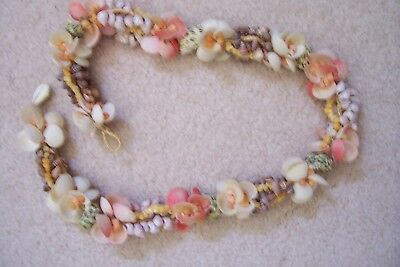 RARE TAHITIAN Shell Lei Necklace FROM 1950 ERA  REDUCED PRICE