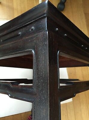 Antique (Vintage) Chinese Zitan Square Stool Or Table Stand.