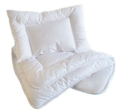 Anti Allergy Duvet and Pillow 120 x 90  / 135 X 100 to fit COT / COT BED