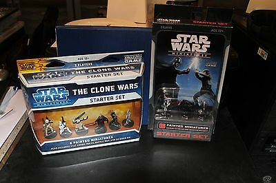 Star wars miniatures, sealed starters, FREE postage