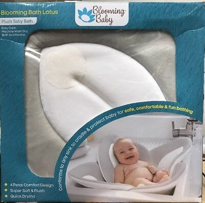 Blooming Baby Bath Pad Sink Lotus Soft Blooming Tubs Safe Infant- New