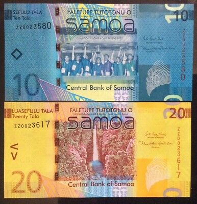 Samoa 20 &10 Tala 2017 - New Signature ZZ Replacement Notes UNC