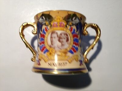 Exceptional 1937 Shelley LUXURY George VI Coronation Loving Cup