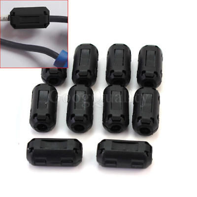 10pcs 3-5mm clip on Cable Noise EMI RF filter ferrite Core Small Ring Suppress