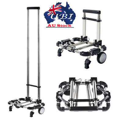 Luggage Compact Aluminum Folding Cart Portable Hand TrunkTravel Shopping Trolley