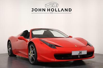 2013 Ferrari 458 Spider 1 Owner From New Low Mileage Example with a High Specifi