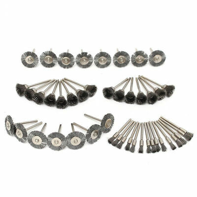 45pcs Stainless Steel Wire Cup Mix Brush Set Fits For Dremel Rotary Tool Set/Kit