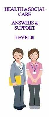 NVQ QCF Diploma LEVEL 5 LEADERSHIP Health & Social Care Answers Help