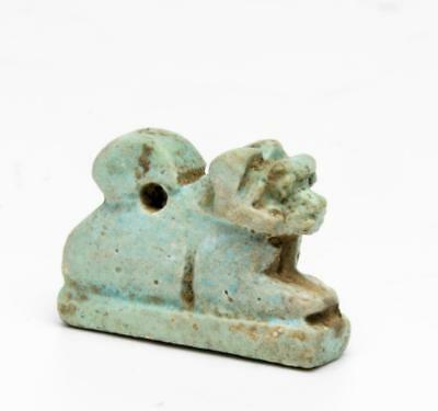 Egyptian faience amulet of a ram: Circa 7th-6th century BC.